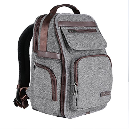 K&F Concept DSLR Camera Backpack Waterproof Nylon Bag for 14'' Laptop,Camera, Lenses and Photography Accessories Size XL Gray