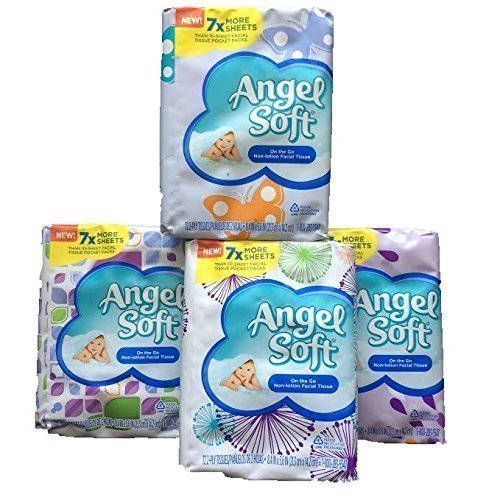Angel Soft On the Go Non-Lotion Facial Tissue, 7X More Sheet