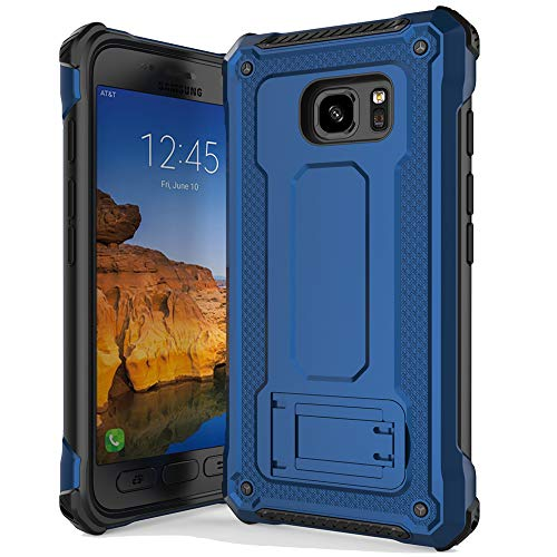 Anccer Armor Series for Samsung Galaxy S7 Active Case with Kickstand Anti Shock Dual Layer Anti Fingerprint Protective Cover for Galaxy S7 Active (Not Fit for Galaxy S7) - Blue (Best Galaxy S7 Active Case)