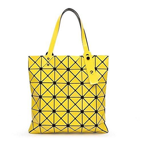 Yellow Femmes Baobao Fourre Géométrique Silice main one Bao à Patchwork Sacs Sac Bao Laser Forme Tout Ruban Gel size Peinture Black Diamant Bandoulière à Hg5n8wnxOZ