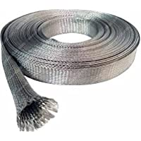 Wang-Data Tinned Copper Metal Braided Sleeving 1/8 inch X 100ft (1/8 X 100)