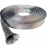 Wang-Data Tinned Copper Metal Braided Sleeving 1/8 inch X 150ft (1/8'' X 150')