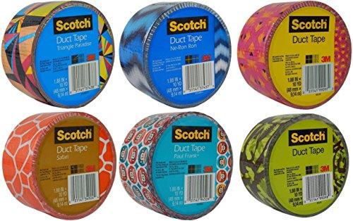 Scotch Brand Craft Weight Duct Tape Designs Multi Pack Bundl
