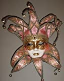 Venetian Mask By Si Lucia Pink Brocade Jolly Exceptional Italian Artisty