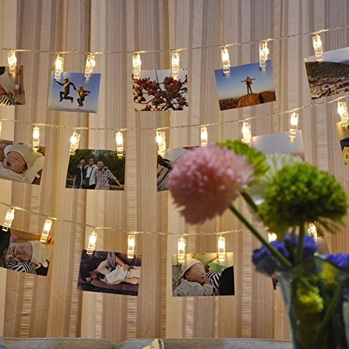 Miaro L4 40 LED Photo Clips String, Wedding Party Christmas Indoor Home Decor Lights, White by Miaro (Image #2)