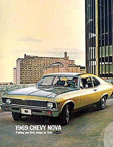 1969 CHEVY NOVA DEALERSHIP COLOR SALES BROCHURE - ADVERTISMENT FOR Custom, SS, Super Sport, Coupe. - CHEVEROLET -