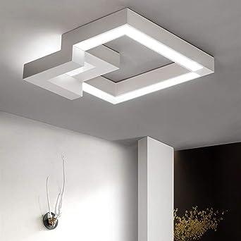ZMH LED Deckenleuchte Dimmbar Fernbedienung, Farbewechsel Stufenlos Dimmbar  Warmweiß/neutralweiß/kaltweiß Deckenlampe Geometrisches