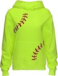 e84c4d4694 Zone Apparel Women's Softball Hoodie Sweatshirt - Laces