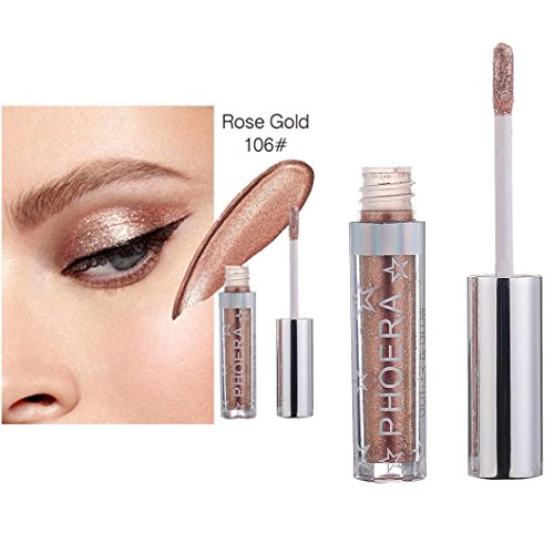 Jinjin 12 Color PHOERA Magnificent Metals Glitter Glow Liquid Eyeshadow (F)