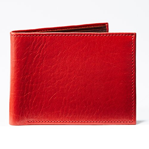 Moore and Giles BI-FOLD Wallet Titen - Cherry Red Leather by Moore and Giles