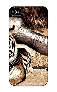 Iphone 5/5s Qjigrt-6843-tokpzot Big Cats Tigers Creative Masha Novoselova Girls Tiger Tpu Silicone Gel Case Cover For Lovers