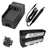 Battery + Charger for Sony MVC-FD5, MVC-FD51 MVC-FD7, MVC-FD71, MVC-FD73, MVC-FD81, MVC-FD83, MVC-FD85, MVC-FD87, MVC-FD88, MVC-FD90, MVC-FD91, MVC-FD92, MVC-FD95, MVC-FD97 MVC-FD100, MVC-FD200 Mavica Digital Camera