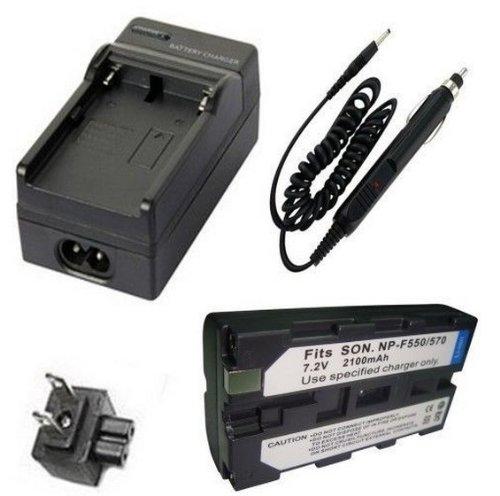 Battery + Charger for Sony MVC-FD5, MVC-FD51 MVC-FD7, MVC-FD71, MVC-FD73, MVC-FD81, MVC-FD83, MVC-FD85, MVC-FD87, MVC-FD88, MVC-FD90, MVC-FD91, MVC-FD92, MVC-FD95, MVC-FD97 MVC-FD100, MVC-FD200 Mavica Digital - Battery Mavica Sony