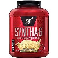BSN SYNTHA-6 Polvo de proteína de suero de leche, Caseína micelar, Polvo aislado de proteína de leche, Helado de vainilla, 48 porciones (el paquete puede variar)