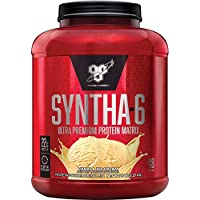 BSN Syntha-6 Whey Protein Powder, Vanilla Ice Cream, 5 Lb