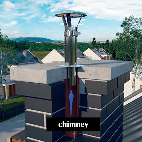 Acero inoxidable tubo de humos de la chimenea carenado protector contra la lluvia tapa protectora que termina 60-80mm