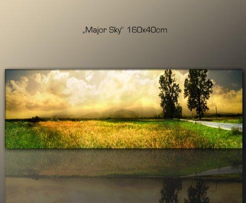 Beliebt Amazon.de: Wandbild 160x40cm Natur (major_sky_160x40 cm ZU68