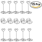 ULTNICE 10pcs Large Heart Shape Number Photo Holders Stands with 5pcs Tabletop Number Holders for Weddings Party Gatherings