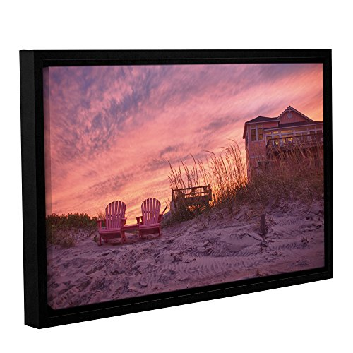 Artwall Dan Wilsons Outer Banks Pink Gallery Wrapped Floater Framed Canvas Artwork  32 By 48 Inch