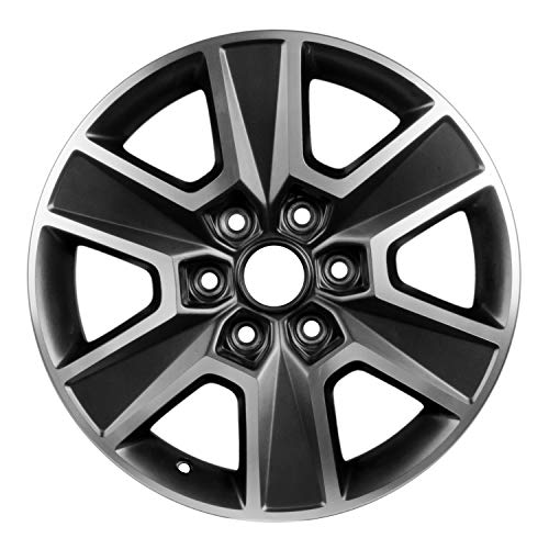 Multiple Manufactures ALY03999U30 Dark Charcoal Gray Wheel with Machined and Meets All Federal Motor Safety Standards (18 x 7.5 inches /6 x 135 mm, 44 mm Offset)