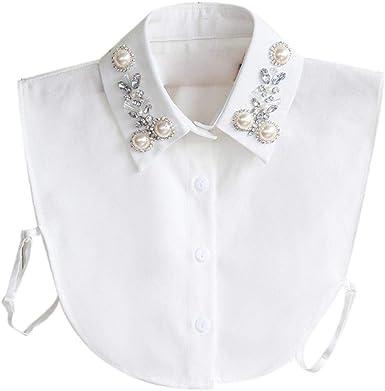 Bontand Del Diamante Falso Cuello Babero Falso Cuello Camisa De Dickey Etachable Collar Para La Mujer: Amazon.es: Ropa y accesorios