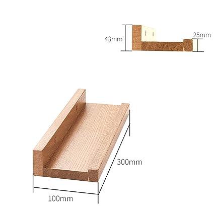 Amazon.com: Estantes flotantes en forma de U de madera con ...