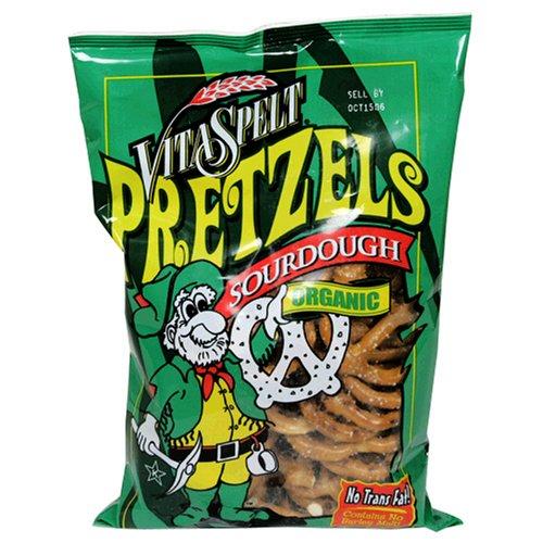 VitaSpelt Pretzels, Organic Sourdough Pretzel, 7-Ounce Bags (Pack of 12)