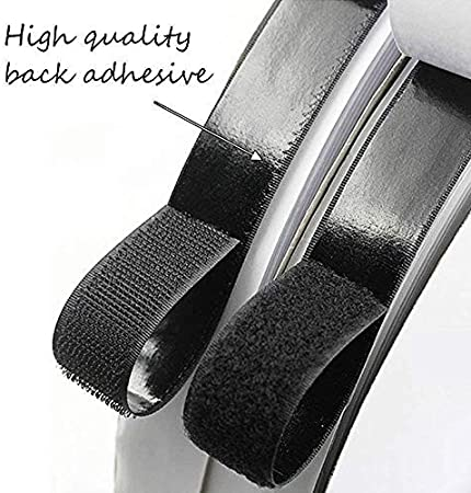 lffopt Velcro Adhesivo Doble Cara Velcro 25m//82ft Gancho y Cinta de Bucle con Velcro Pegajoso de Velcro Gancho y Bucle Autoadhesivo White,30mm