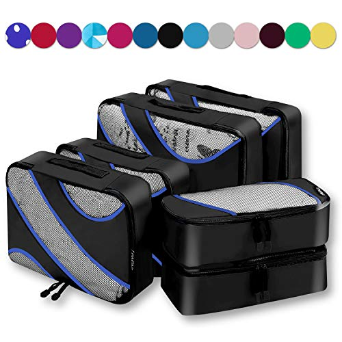 6 Set Packing Cubes Travel Luggage Packing Organizers