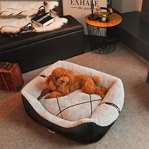 (AIgouda Dog Bed Cat Warm Pet House Nest Cushion Blanket Mat Basket Silver 45x30x20cm)