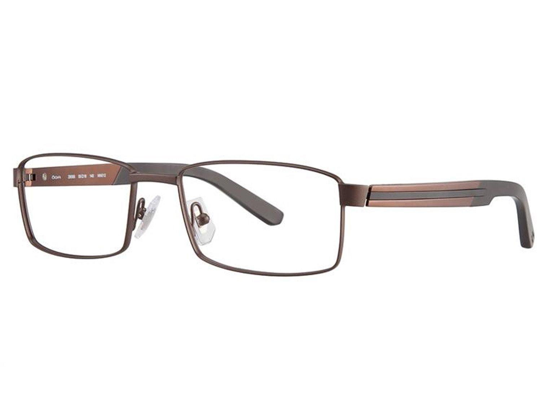 OGA MOREL Eyeglasses Made in France 2909 2909S aluminium (matte brown, one color)