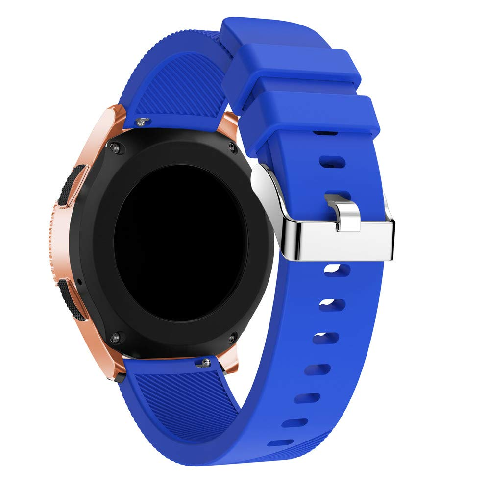 KFSO Compatible Samsung Galaxy Watch 42mm/46mm,Soft Silicone Watch Band Replacement Band Strap (Blue, 42mm)