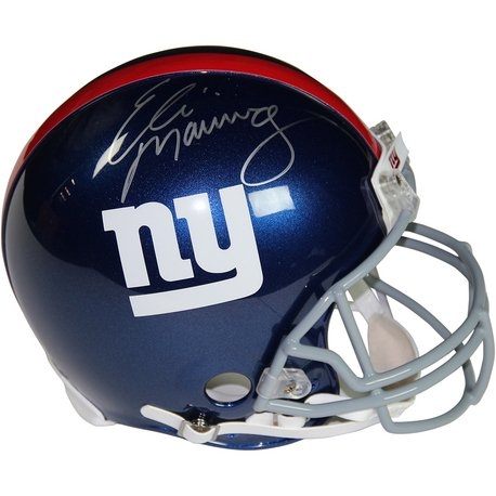 Autographed Nfl Replica Football - Eli Manning New York Giants Autographed Full Size Replica NFL Football Helmet