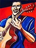 DAVE MATTHEWS ORIGINAL PAINTING-man cave art-taylor guitar-cd record album vinyl lp-DMB crash remember two things