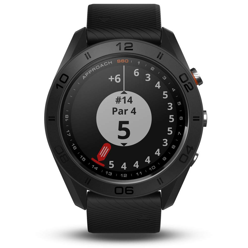Garmin Approach S60 Golf Watch Black with Black Band (010-01702-00) with 1 Year Extended Warranty by Garmin