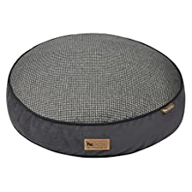 P.L.A.Y. Houndstooth Round Bed Cover, Large, Black/Grey