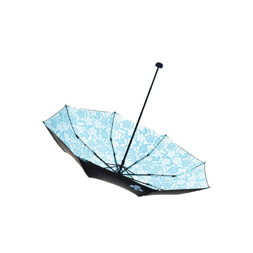Hw home Sunny Umbrellas 女性 折りたたみ デュアル使用 小型 フレッシュ 太陽 傘 女神 ビニール サンスクリーン UV 傘 (カラー : B) B07CP62QBP