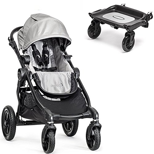 Baby Jogger City Select Black Frame Stroller w Glider Board (Silver) (Glider Board City Select compare prices)