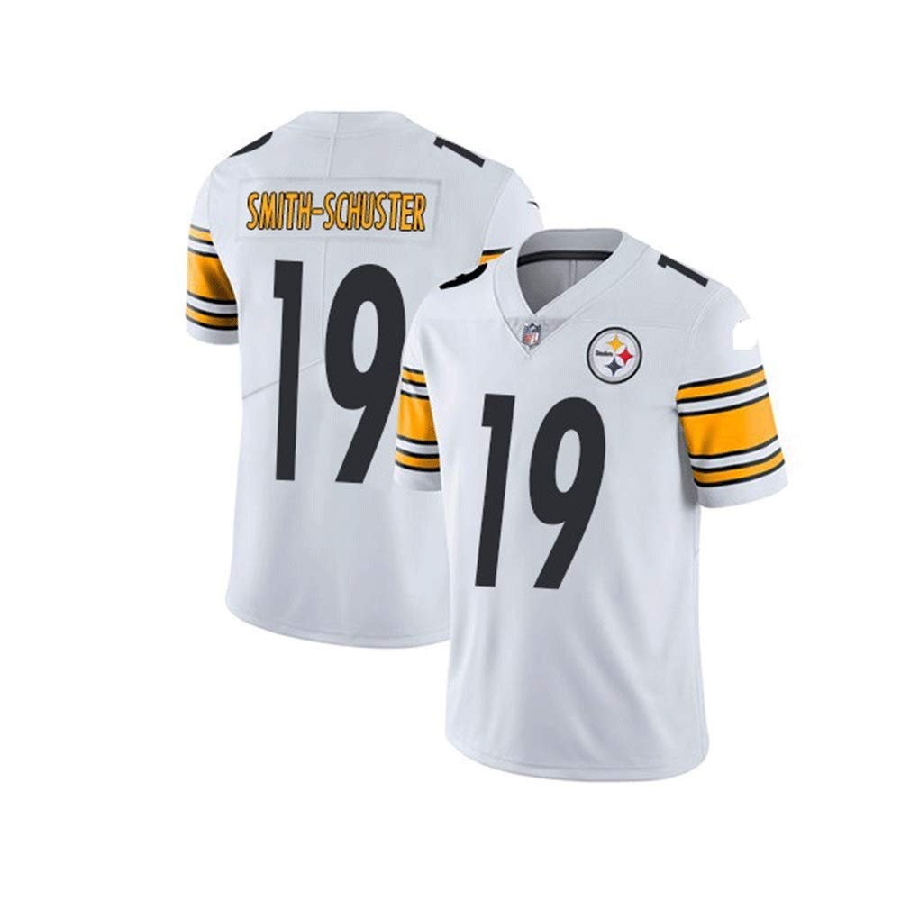 Wusfeng Steelers Jersey Pittsburgh Steelers PRO Rugby Jersey Tech Traspirante Smith-Schuster # 19 Jersey di Cotone T-Shirt Rugby Suit