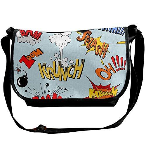 Word Onomatopoeic Shoulder Bag Handbag Fashion Black Designer Bags Illustration One Travel Men's Messenger UdwdqrY