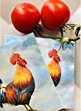 20-ct 13x13 Rooster Decoupage Napkins | Fall Paper