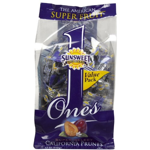 Sunsweet Gold Label Ones Super Select California Prunes 12 OZ (Pack of 6) by Sunsweet
