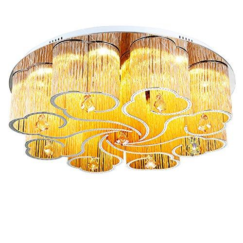 BGmdjcf Led Xiangyun Minimalist Crystal Ceiling Lights Amber 72W ,75Cm Remote Control