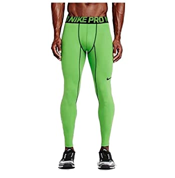 Nike Pro Mens Green Athletic Compression Pants Size Large 596297