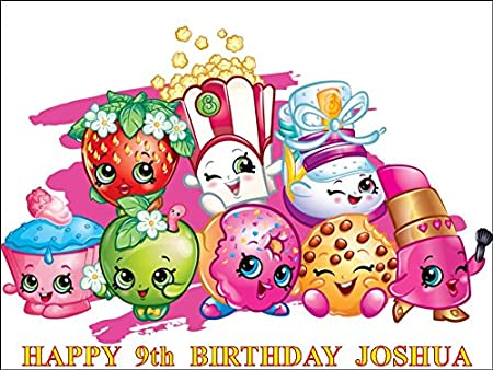 shopkins shoppies personalized 10 x 7 5 icing cake topper any
