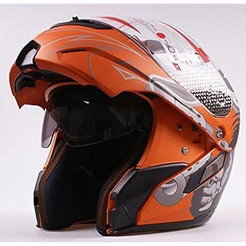WMN_TrulyStep New Dual / 2 Visors Modular Motorcycle Scooter Vespa Biker Full Open Face Jet Flip