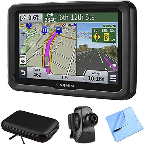 Cheap Garmin dezl 570LMT 5 Truck GPS Navigation Lifetime Map/Traffic Vent Mount/Case Bundle - Inclu...