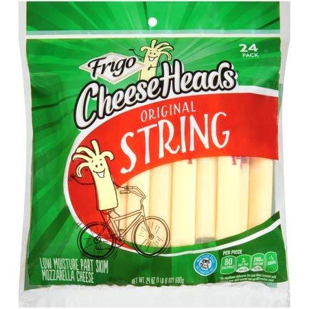 (Expect More Frigo Cheese Heads Original Low Moisture Part Skim Mozzarella String Cheese, 6 ct. / 144 Oz.)