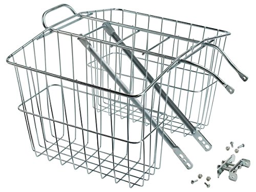 Wald 520 Rear Twin Bicycle Carrier Basket (13.5 x 6.25 x 11) (Bicycle Basket Rear)