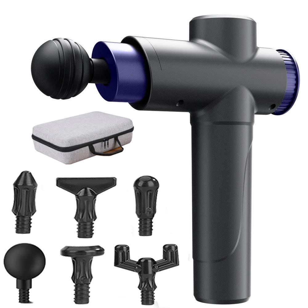 Muscle Massage Gun Massagers Handheld Deep TissuePercussion Massage Gun Includes 8 Heads